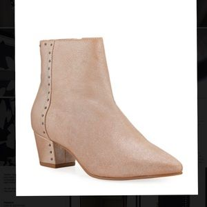 """SEYCHELLES - WAKE-UP STUDDED SUEDE BOOTIES """"BLUSH"""""""